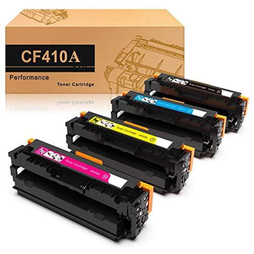 4 Toner compatibele tonercartridge vervanging voor CF410A-413A voor HP Color Laserjet Pro MFP M477fdw HP M477fdn M477fnw M452nw M452dn M377dw M477 M452 (Zwart, Rood, Blauw, Geel)
