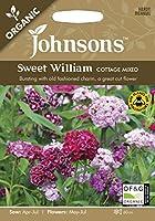【輸入種子】 Johnsons Seeds ORGANIC Sweet William COTTAGE MIXED オーガニック スイート・ウイリアム(なでしこ) コテージ・ミックス ジョンソンズシード