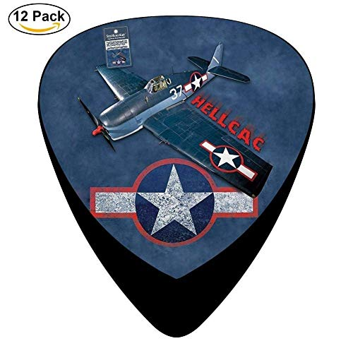 Grumman F6f Hellcat Celluloid Guitar Picks 12 Pack For Electric Acoustic Guitar