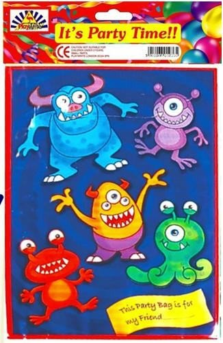 Party Bags 2 Go Monster Sac de Soirée, Lot de 6