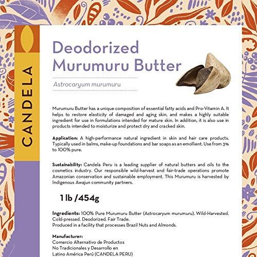 1lb 454g 誕生日/お祝い Deodorized 完全送料無料 Murumuru Butter. Pure. Trade. Fair Pr 100%