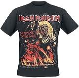 Iron Maiden Number of The Beast Graphic Hombre Camiseta Negro XL, 100% algodón, Regular