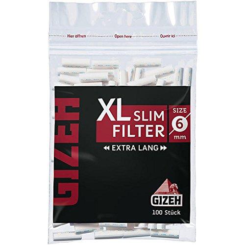 GIZEH Black XL Slim Lot de 10 x 100 filtres
