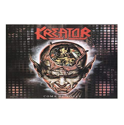 HJZBJZ Kreator Coma of Souls Album Cover Poster e Stampe su Tela Pittura Wall Artist per la Decorazione Domestica Regalo -20X30 Pollici Nessuna Cornice