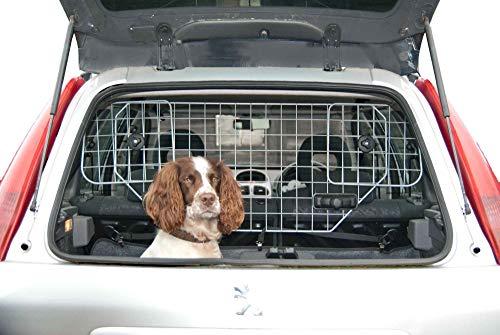Hundegitter fürs Auto-Schutzgitter Trenngitter verstellbar Hundeschutzgitter für den Kofferraum für Kopfstützen Metall Auto Gitter, Gepäckgitter, Kofferraumgitter