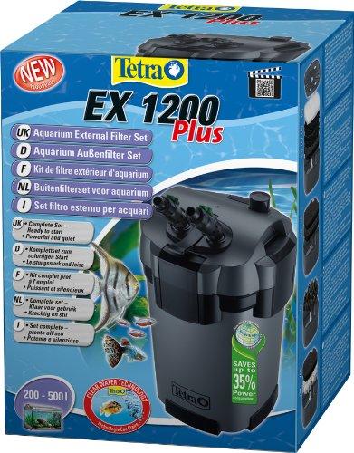 TETRA EX 1200 Plus - Filtre Extérieur pour tout type d'aquarium de 200 à 500L – Performant, puissant, silencieux – 5 types de filtration – Fonction de préfiltration - Garantie 3 ans