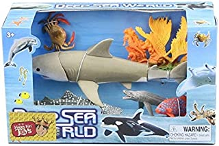 Action & Toy Figures - Marine animal toy model of movable joints good quality big whale shark octopus dolphins squid coral...