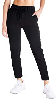 Petite/Regular/Tall Women's 7/8 On The Fly Pants Midweight Casual Joggers Lounge Pants Autumn Travel Commute Yoga Work