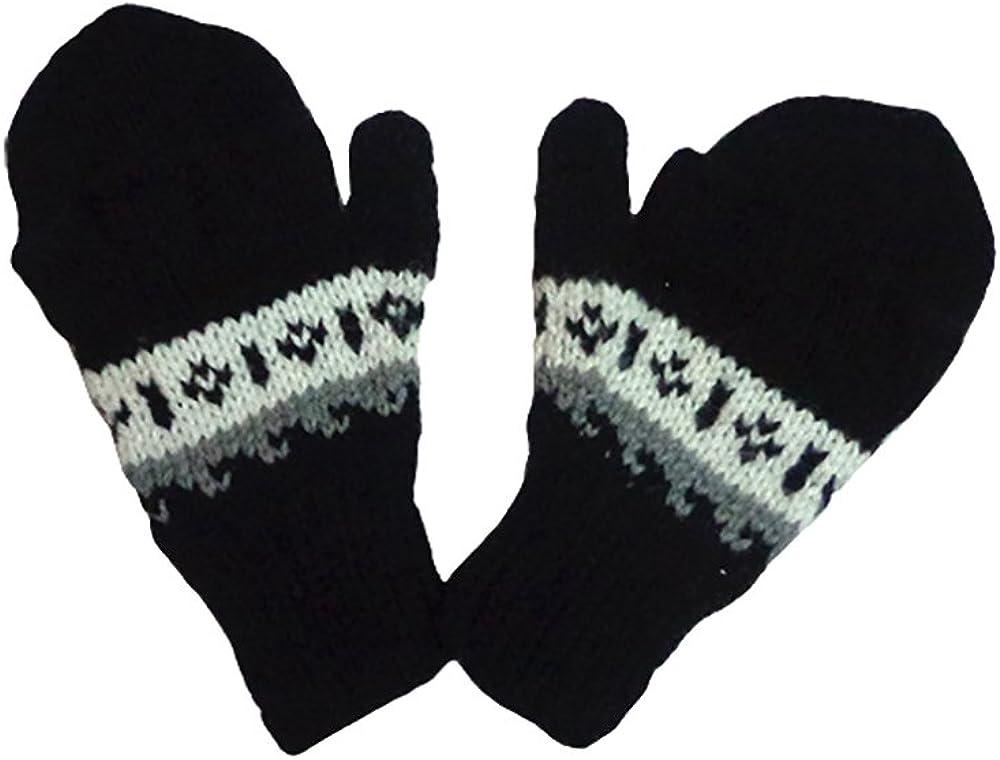 Gamboa - Alpaca Mittens Wool Gloves Unisex Alpaca Gloves Black Unisex