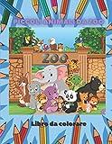 Piccoli animali da zoo - Libro da colorare: Libro Da Colorare Per Bambini Dai 4 Ai 7 Anni