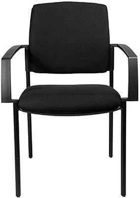 Nishore 4 St/ücke Stapelbare B/ürost/ühle Stapelstuhl Konferenzstuhl Besucherstuhl Metallrahmen 54 x 59 x 78 cm Schwarz Benutzergewicht 120 kg