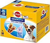 Pedigree DentaStix Hundesnack für kleine Hunde (5-10kg), Zahnpflege-Snack mit Huhn und Rind, 1 Packung je 56 Stück (1 x 880 g)