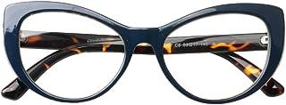 SOOLALA Womens Large Frame CatEye Prescription Glass Frame Reading Glasses