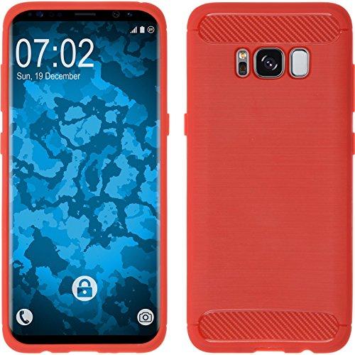 Preisvergleich Produktbild PhoneNatic Case kompatibel mit Samsung Galaxy S8 Plus - rot Silikon Hülle Ultimate + Flexible Folie