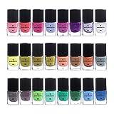 BORN PRETTY 6 ml Stamping Candy Nails Color Nail Art Teller Druck Polish Lack 24 Farben