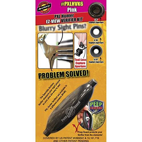 Specialty Archery - PXL Hunter - EZ-View - Verifier Kit - w/ #6 Verifier and Peep Guard - Pink