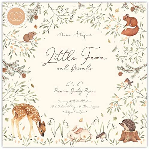 CRAFT CONSORTIUM LTD CRAFT CON PAPRPAD 6 LIL FAWN Little Fawn Friends product image