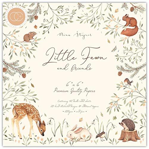 CRAFT CONSORTIUM LTD Artigianato con Carta da 15,2 cm, Colore Lilla, Little Fawn & Amici, taglia unica