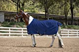 Kensington Products Egyptian Cotton Horse Stable Blanket - Lightweight Durable & Breathable Day Sheets (72, 181- Navy)