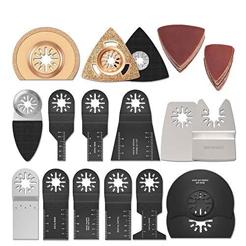 66Stk Oszillierendes Sägeblätter Kit Mix Klingen Multitool Oszillierwerkzeug-Zubehö für Kunststoff/Holz/Soft Metal Cutting für Fein Multimaster Makita Einhell