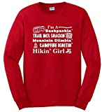Hiking Gift Funny Hiker Girl Poem Long Sleeve T-Shirt 4XL Red