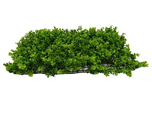 SZ Plancha Alfombra de Césped Artificial 60 * 40cm Jardín Vertical Decoración Interior Pared Hierba (EU Grande)
