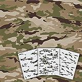 Redleg Camo OCP 11'x14' 3 Piece Camo Stencil Kit Scorpion W2 Army Airbrush