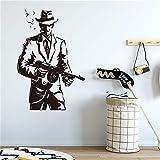 wZUN Gangster Thug decoración del hogar Pegatina de Pared Mafia Sala de Estar sofá Fondo Pared extraíble Vinilo Pared calcomanía 58X39cm