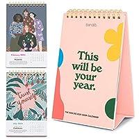 Ban.do デスクカレンダー 12ヶ月 卓上プランナー 2021年1月~2021年12月 カラフルな月ビューアートワーク あなたの年になるでしょう。