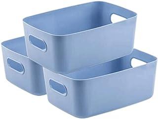 Hanpiyigzwl Rangement, 3 morceaux de sécheries de ménage Boîte de rangement Boîtier de bureau Boîte de rangement cosmétiqu...