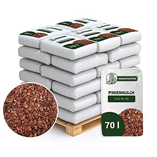 MammutGarten Pinienmulch Pinie Rinde Garten Grob 40-60 mm 70l Sack x 36 STK (2520 L)