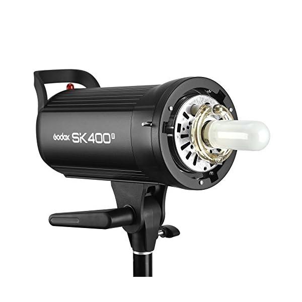 Godox SK400II 400Ws Photo Studio Strobe Flash Monolight Light with Bowens Mount &Lamp Head, 150W Modeling Lamp for…