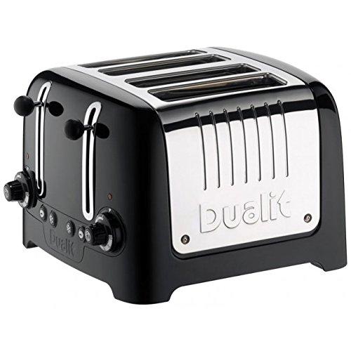 """Dualit-Tostador 4 ranuras, con pinzas, """"Lite"""" negro"""