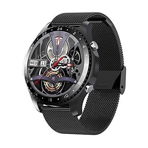 Smart Watch Make/Answer Calls,Health and Fitness Sports Watch for Men Women with Heart Rate Blood Pressure SpO2 Temperature Monitor,Sleep Tracker,Waterproof Smartwatch for Android iOS Phones (Black)