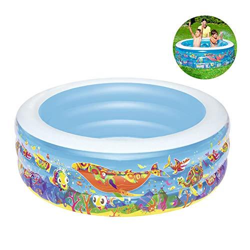 Bewinch Aufblasbare Pools,Wasserspeicherkapazität 400 Liter Verdickte Umweltschutz PVC Kinder Baby-Planschbecken 152 * 51CM,Platz Im Innen- Und Außen Aufblasbare Schwimmbecken Family Pool