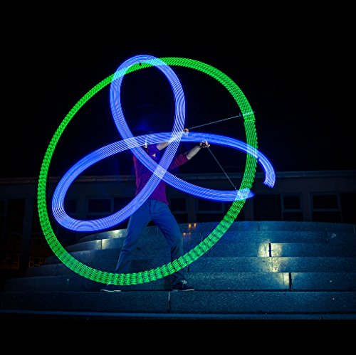 Zeekio Lighted LED Poi - Spinning Flow Toys - Sold in Pairs