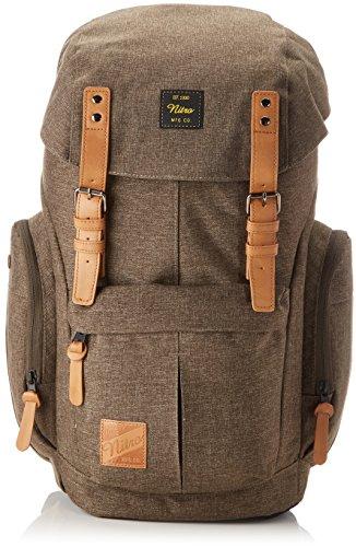 Nitro Schulrucksack Daypacker Alltagsrucksack im Retro Look mit Gepolstertem Laptopfach, Schulrucksack, Wanderrucksack oder Streetpack, Größe und Schnitt ideal für Frauen, 32 L, Burnt Olive