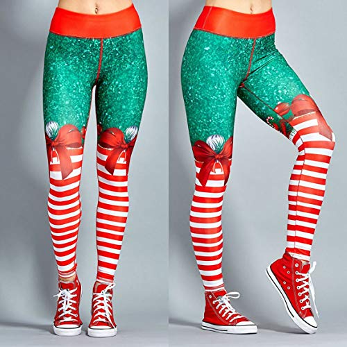 Pantalon de jogging à rayures de Noël Déodorant anti-déchirure résistant à la transpiration absorbant la transpiration et absorbant la transpiration -Multi-Color Mixed-S