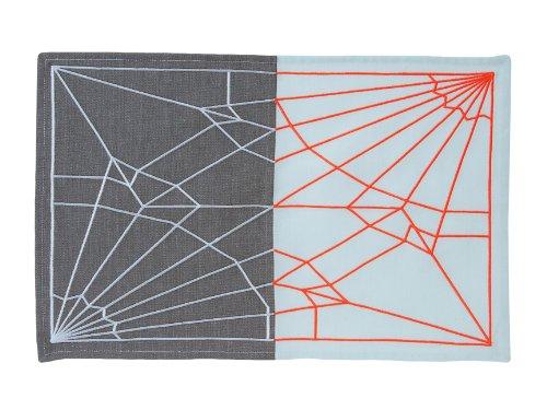 Present Time Tovaglietta Unfolded - Celeste-grigio