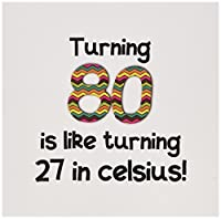 InspirationzStore – Turning 80 is Like Turning 27 in摂氏 – ユーモラス80th Birthday Gift – グリーティングカード Individual Greeting Card