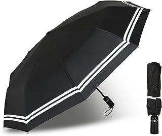 折りたたみ傘 ワンタッチ自動開閉 大きい レディース&メンス傘 高強度な10本骨 耐風撥水 UVカット 晴雨兼用 折り畳み傘 ブラック