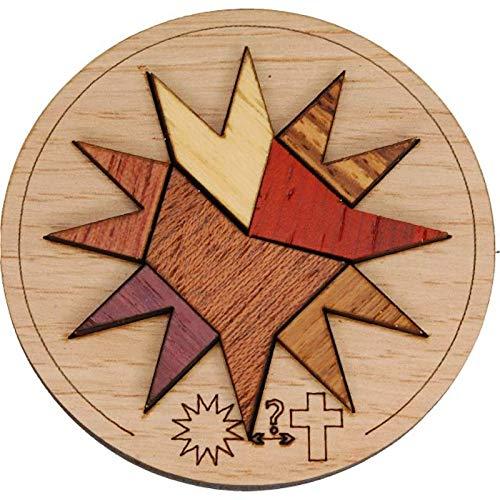 Mini Puzzle Siebenstein Spiele Bois Artisanal Wooden Brain Teaser Puzzles, Sainte Etoile