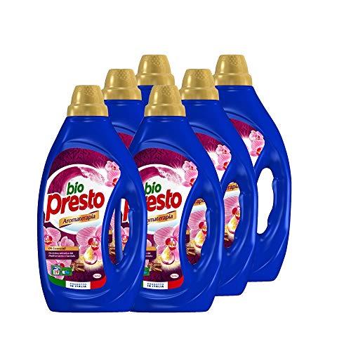 Bio Presto Liquido, Detersivo Lavatrice Liquido, Aromaterapia alla Orchidea, confezione risparmio 6 x 19 Lavaggi (114 lavaggi)