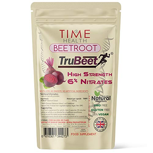 New: Beetroot Extract Capsules - 6% Nitrates - Made with TruBeet - Pre Workout - Sport & Exercise Booster - 120 Capsules (120 Capsule Pouch)
