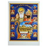 Bild Zehn Gurus des Sikhismus 50 x 70 cm Goldener Tempel