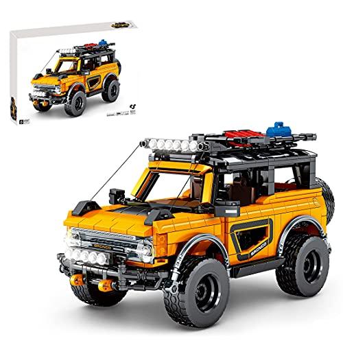 Lommer Technics - Kit de construcción de coches todoterreno para Ford Bronco, 931 piezas para vehículos todoterreno, bloques de construcción compatibles con Lego Technic