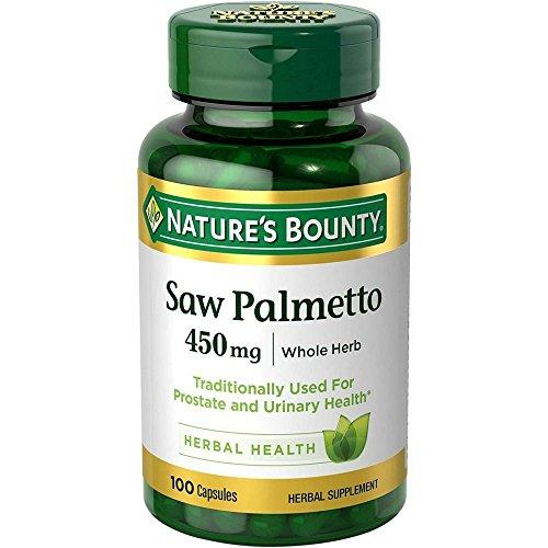 Nature's Bounty Saw Palmetto 450 mg 100 Capsules