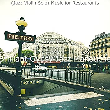 (Jazz Violin Solo) Music for Restaurants