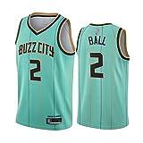 Jerseys De Baloncesto De Los Hombres, NBA Charlotte Hornets # 2 Lonzo Ball...