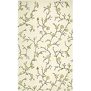 Rizzy Rugs CT-1634 3-Foot-by-5-Foot Country Area Rug, Floral Beige